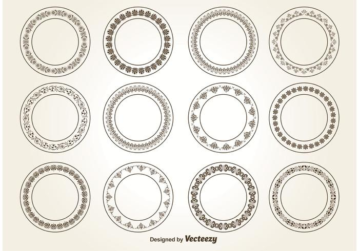 Decorative Circle Ornaments vector