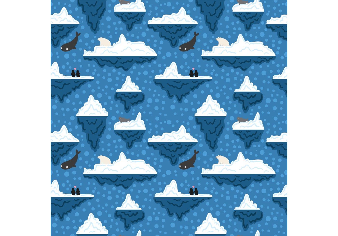 Orca Whale Cartoon Free Iceberg Underwate...