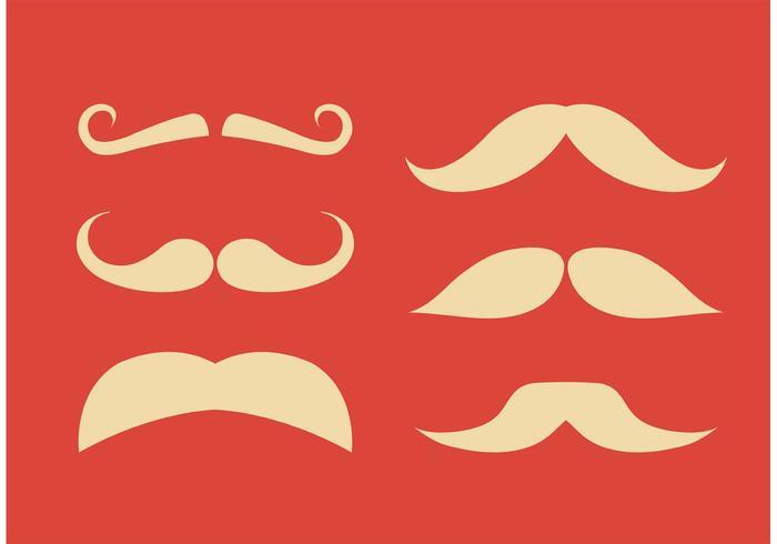 Vecteurs de moustaches plates vecteur