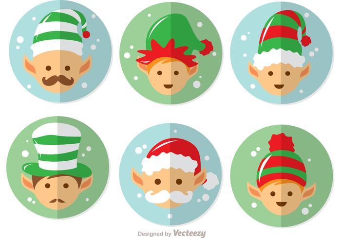 Dibujos animados santas elfos vector pack