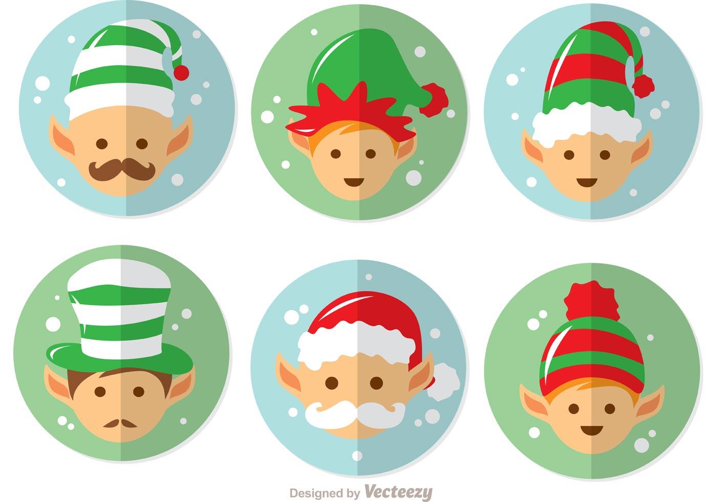 Cartoon Santas Elves Vector Pack - Download Free Vector Art, Stock ...
