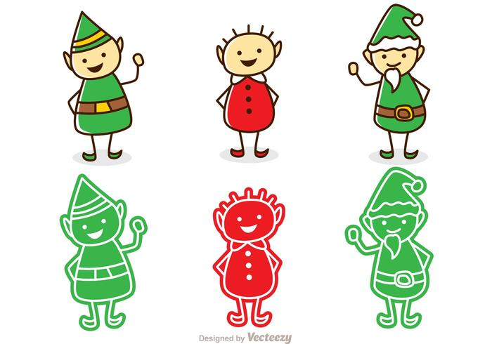 Santas Elves Christmas Pack  vector