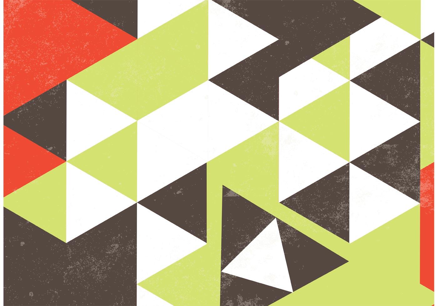 Grunge Retro Geometric Background