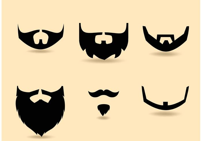 Free Vector Beard Set