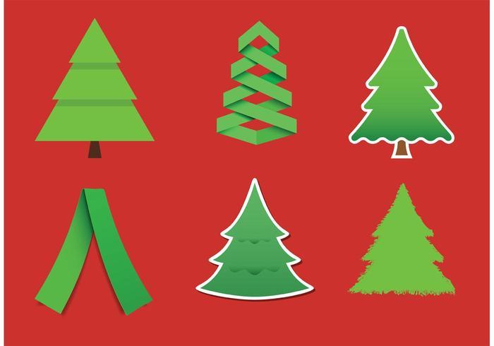 Moderne Weihnachtsbaum Vektoren