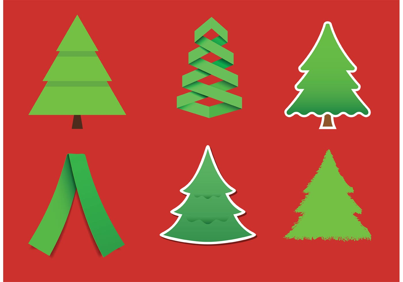 Modern Christmas Tree Vectors