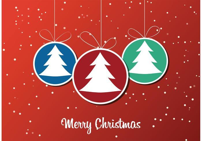 Christmas Tree Ornament Wallpaper