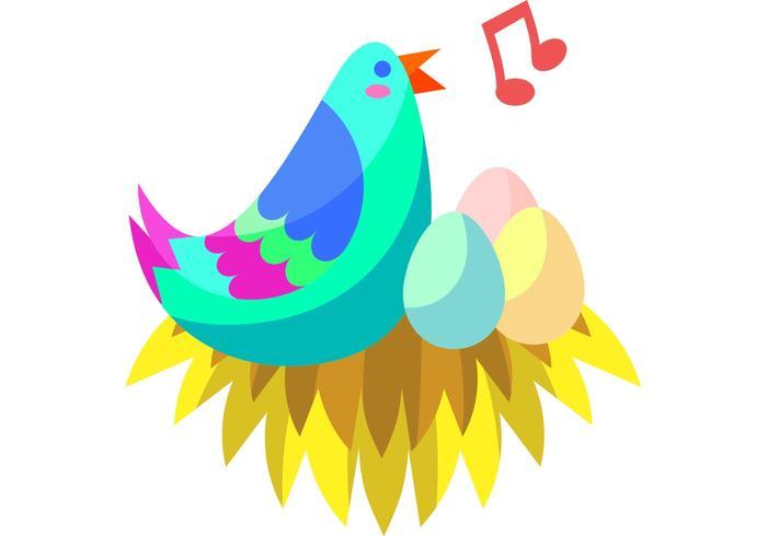 Fågel i Nest Vector