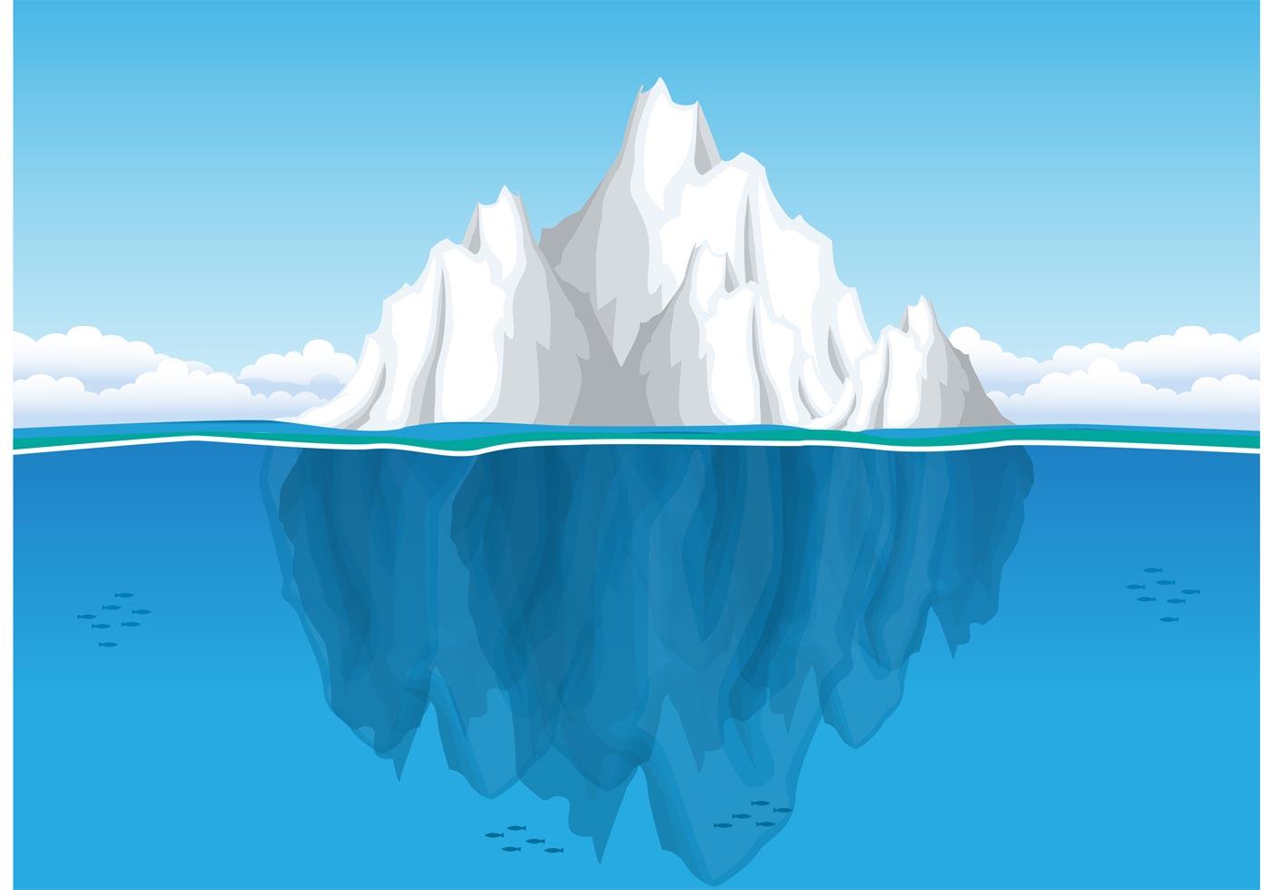 Iceberg Underwater Vector Download Free Vector Art