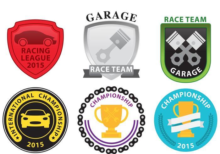Emblemas de carreras vector