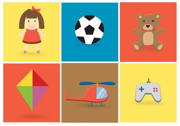 Free Vector Toy Vector Set
