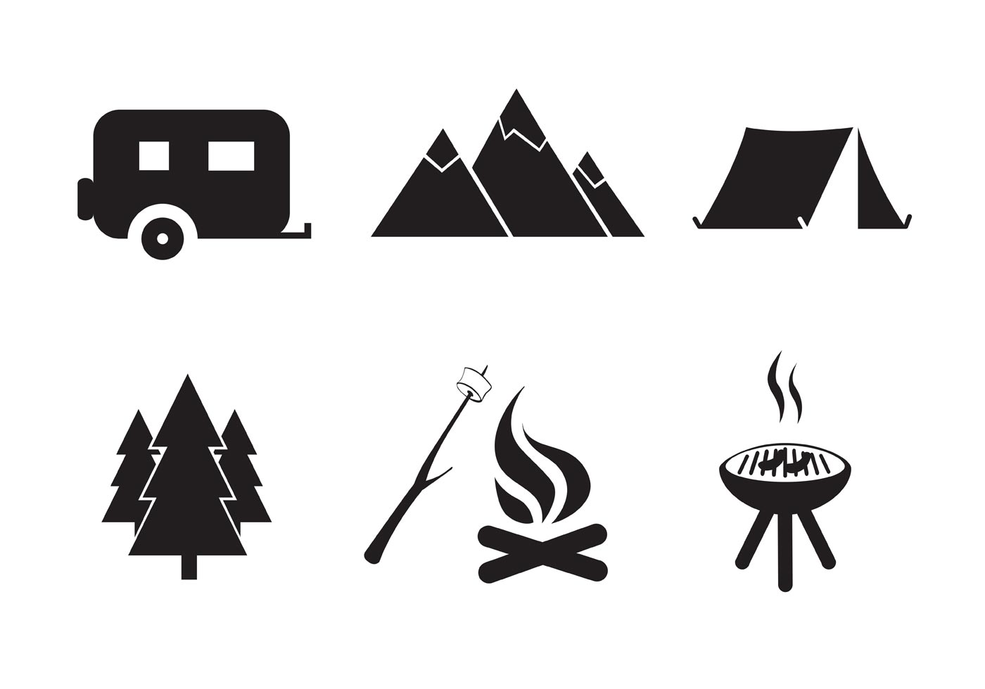 Vector Free Camping Icon Set - Download Free Vector Art ...