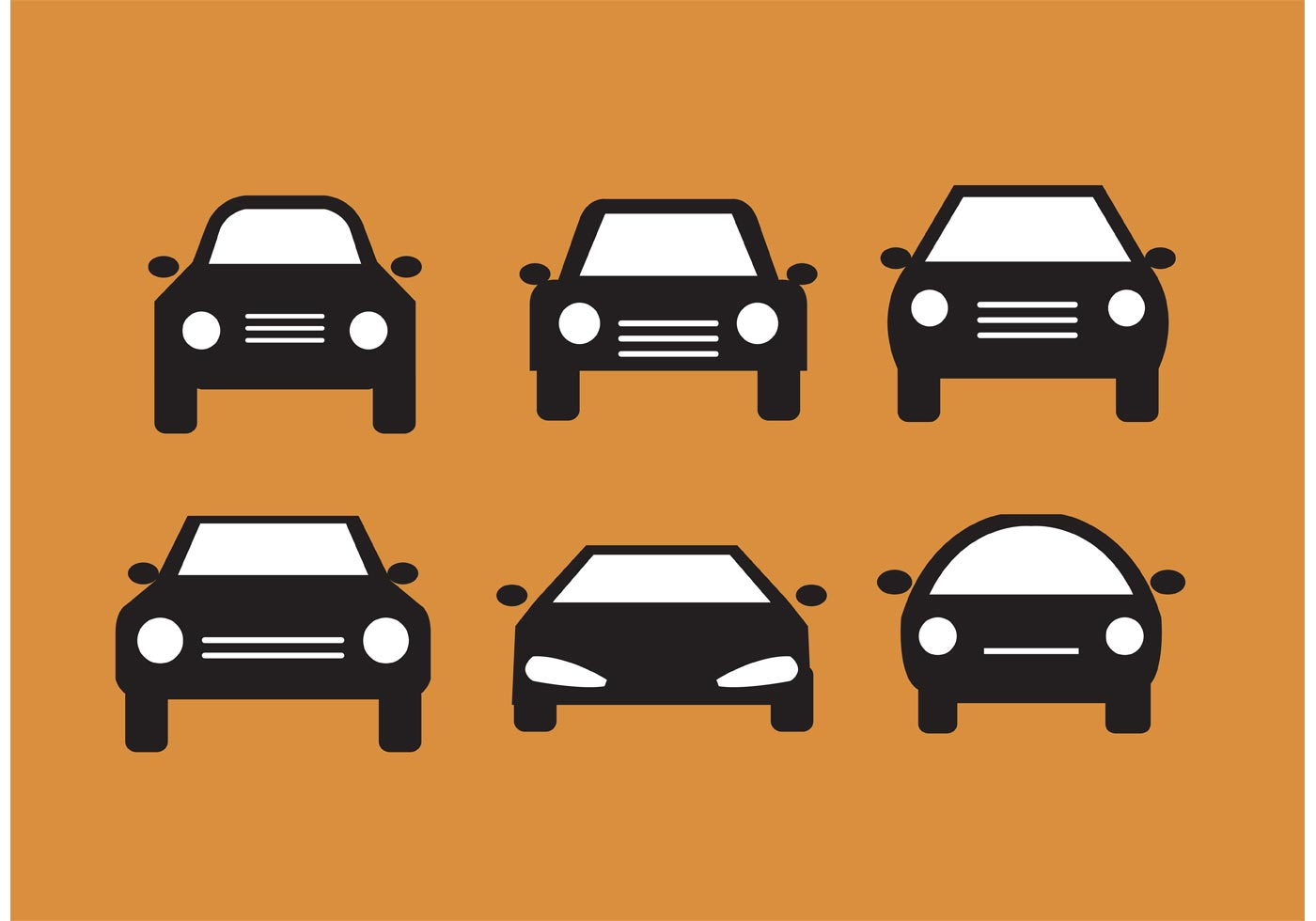 Car Front Silhouettes Download Free Vector Art Stock