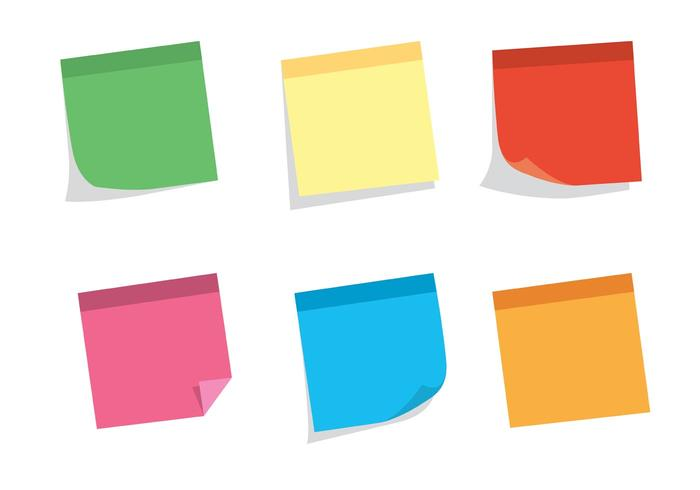 Free Vector Sticky Note Set