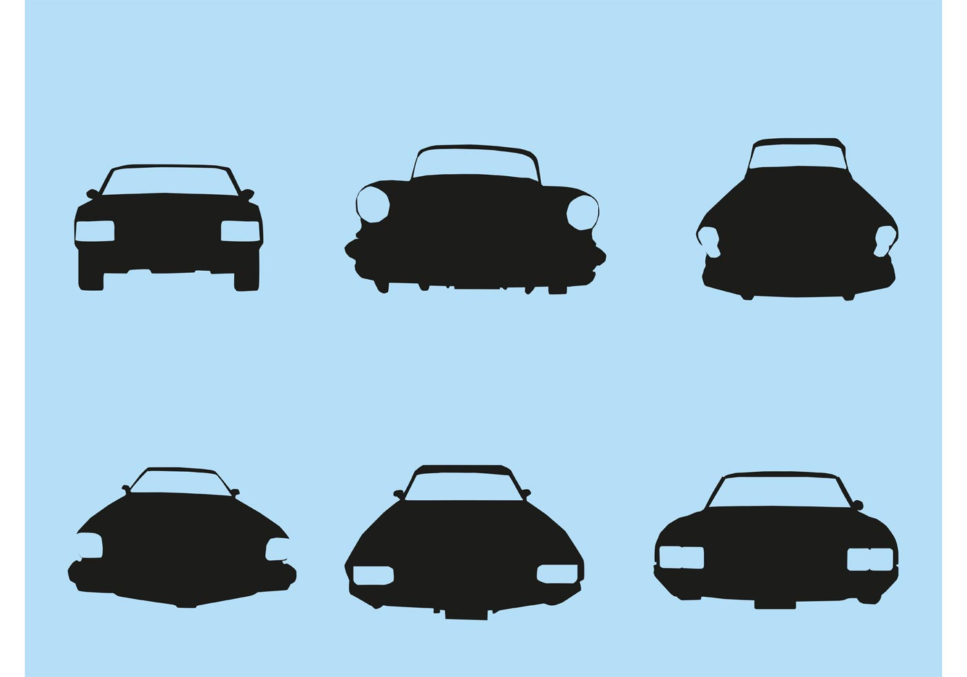 vector car silhouette front download free vector art