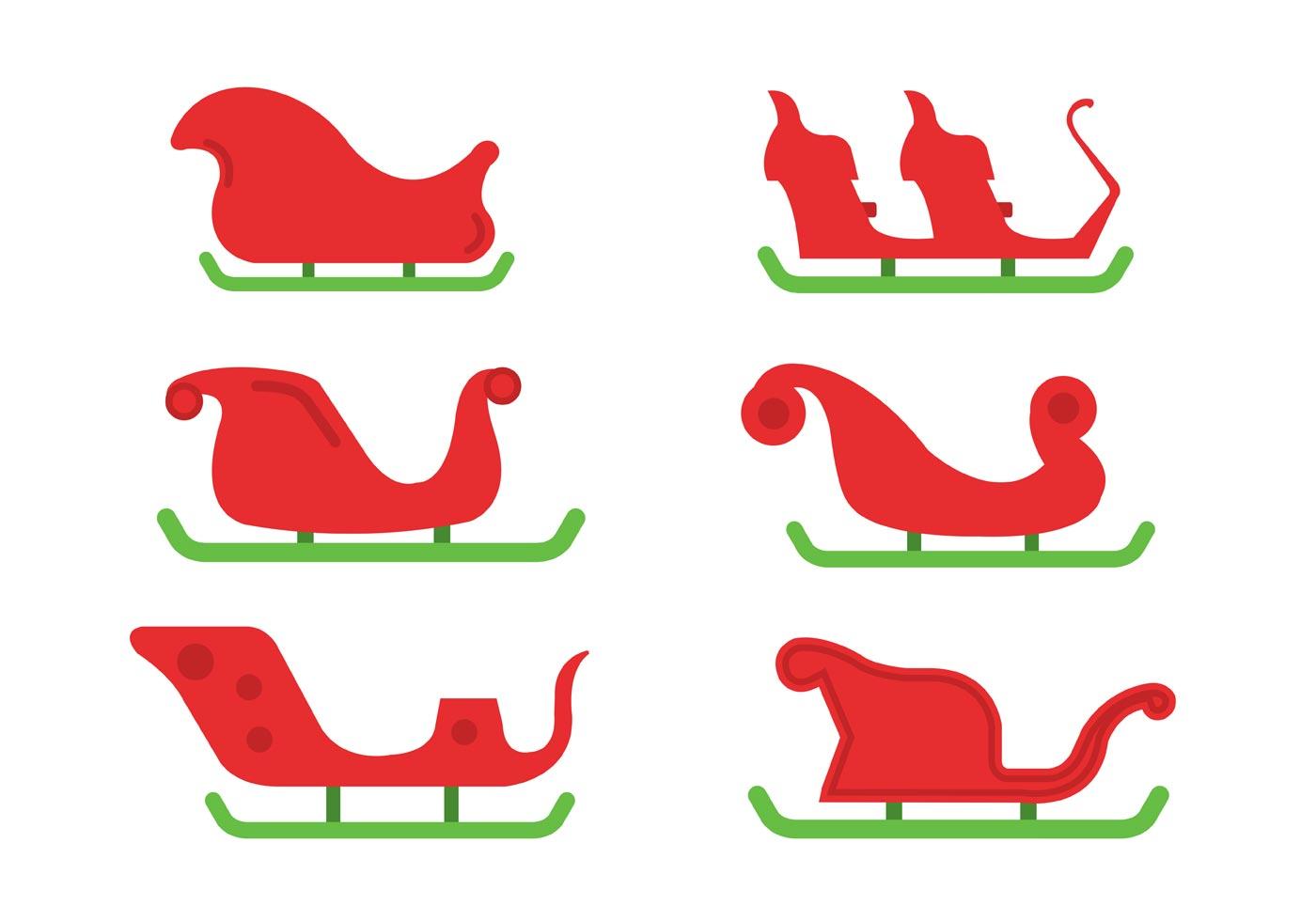 Santa's Sleigh Vector Set - Download Free Vector Art, Stock Graphics ...