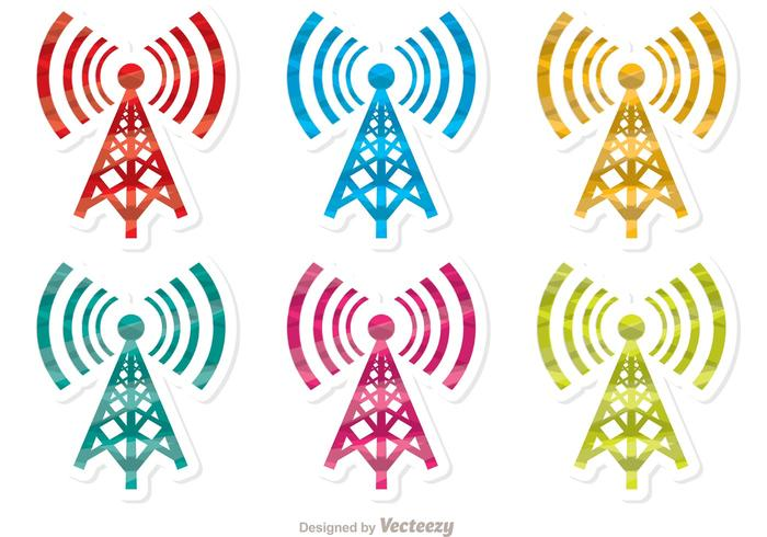 Colorful Cell Tower Vector Pack