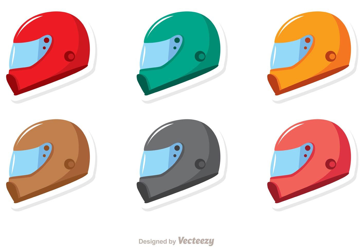 racing helmets vector pack download free vector art