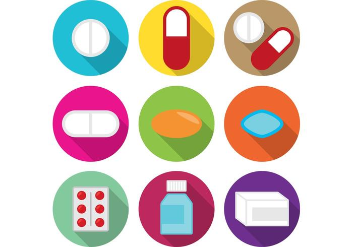 White Pills and Medicine  vector