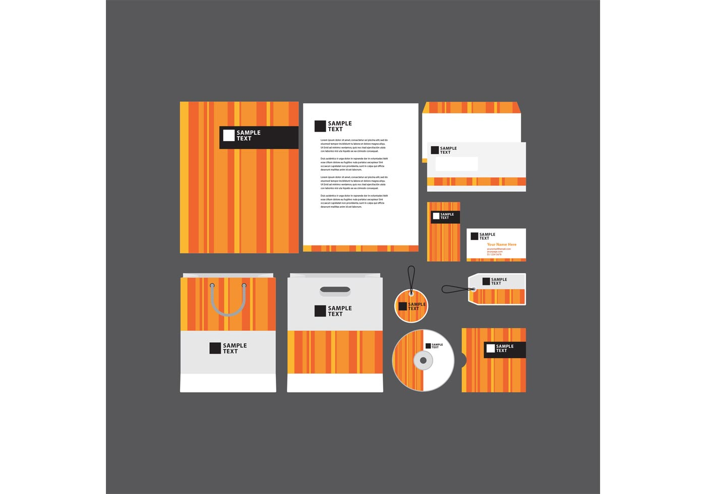 Company profile design 4685 free downloads orange striped company profile template wajeb Images