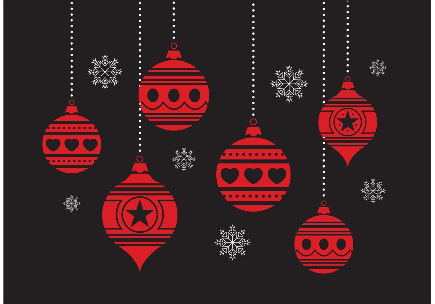 Christmas Ornament Set - Download Free Vector Art, Stock ...