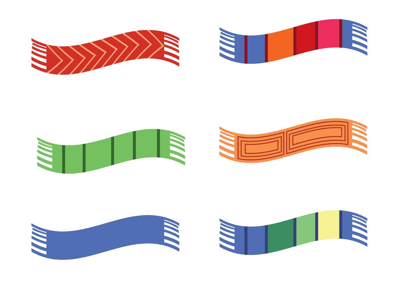 картинка шарфики разной длины разрозненности группировок