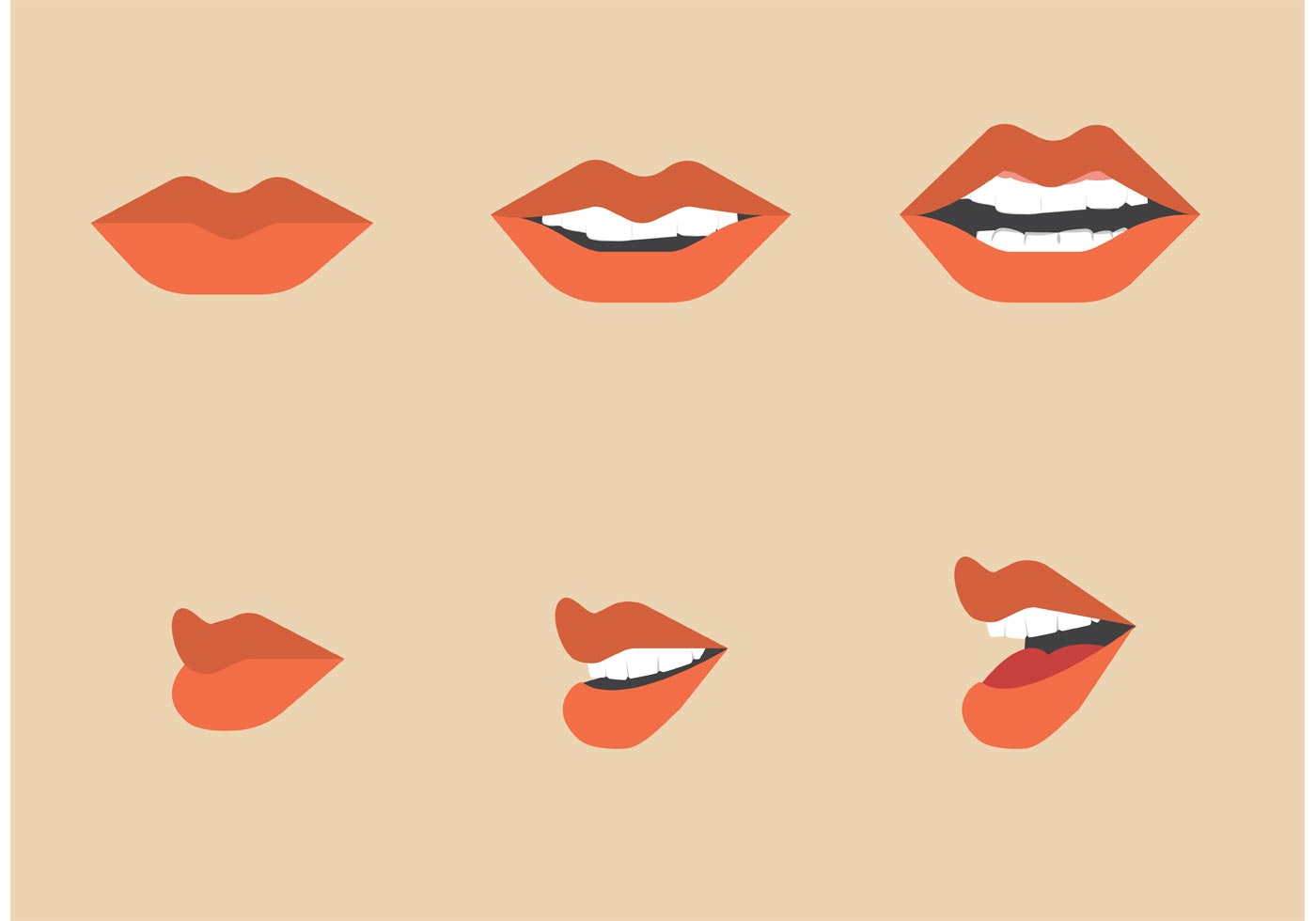 free mouth talking vector pack download free vector art