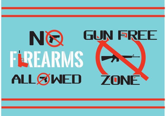 No Firearms Sign Vectors
