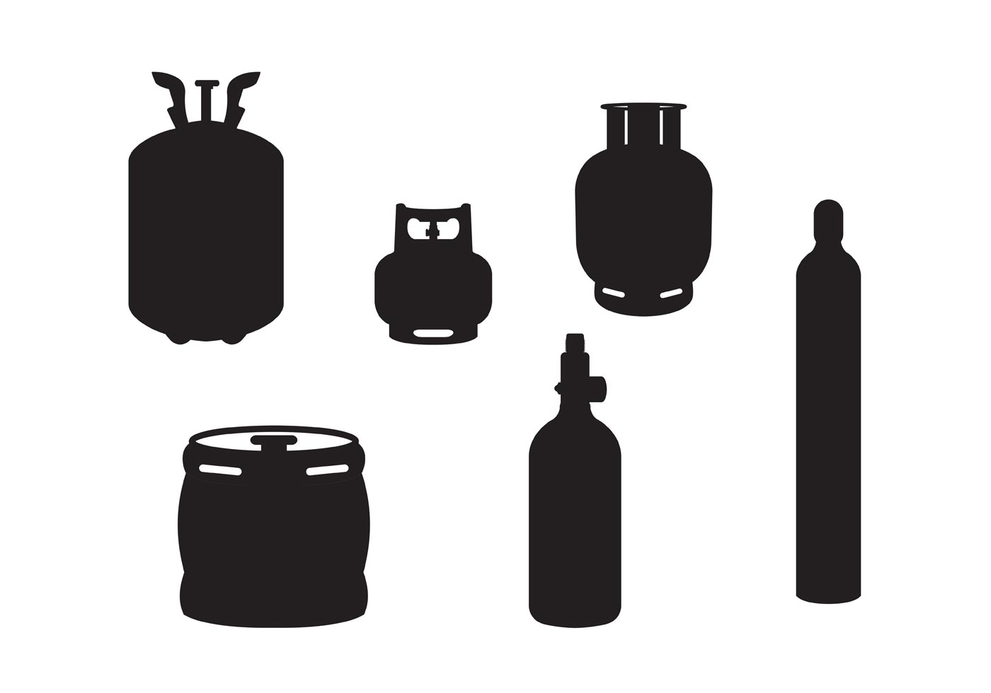 Gas Cylinder Vectors Gas Tanks Download Free Vector
