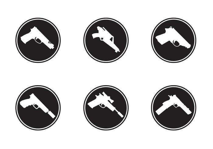 Icone di forme di pistola