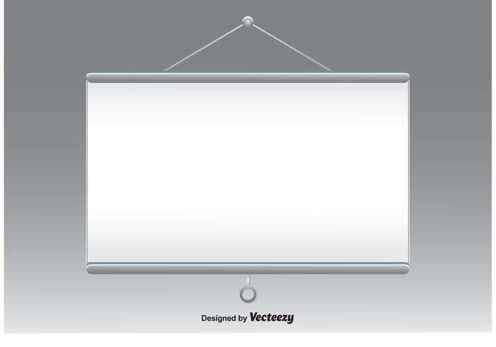 Projector Screen Vector