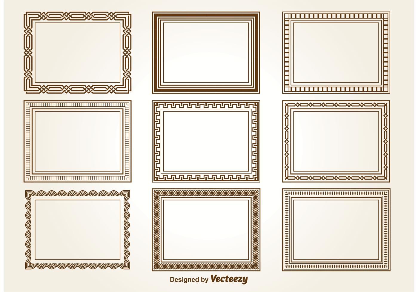 decorative square frames download free vector art stock graphics images. Black Bedroom Furniture Sets. Home Design Ideas