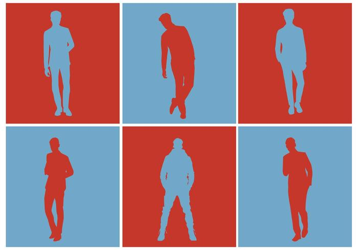 Free Vector Men Silhouette Set