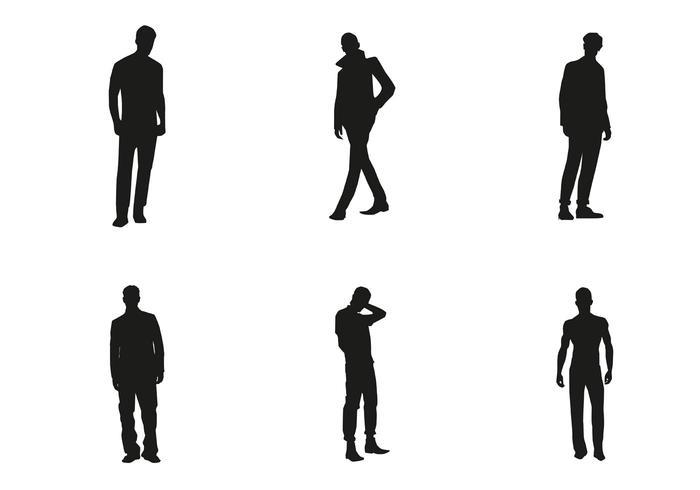 Vector Mannen Silhouetten