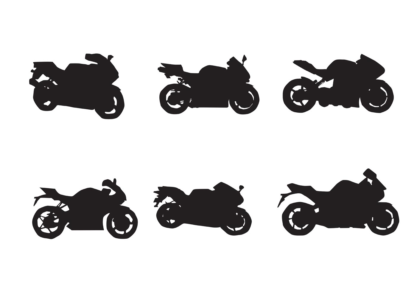 free motorcycle vector silhouettes two download free