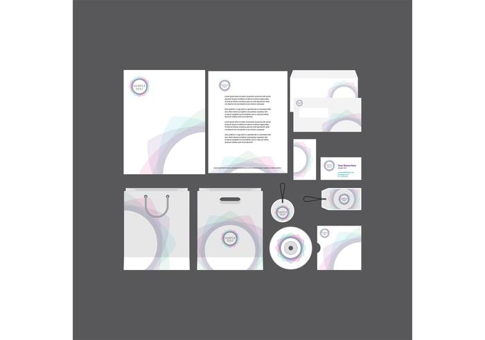 Modèle de profil d'entreprise Spiral