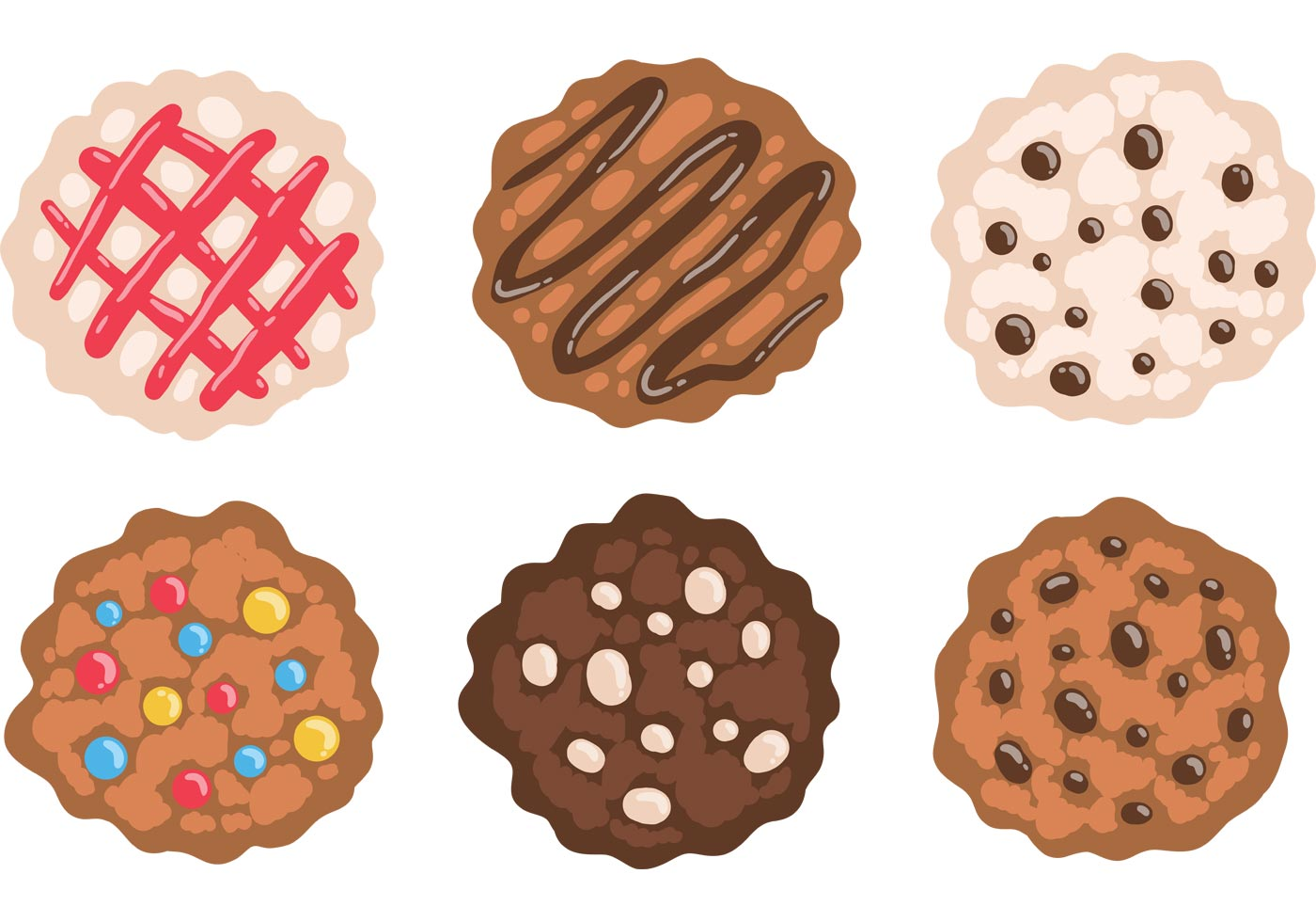 chocolate chip cookies clipart vector free chocolate chip cookies vector free vector 862