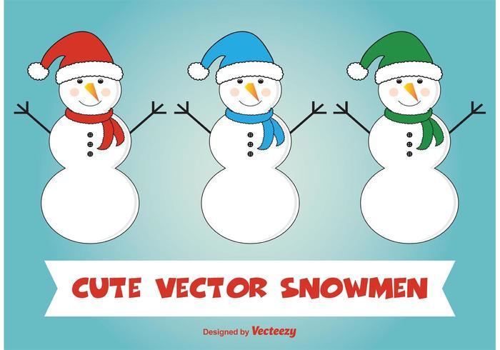 Cute Snowman Vectors