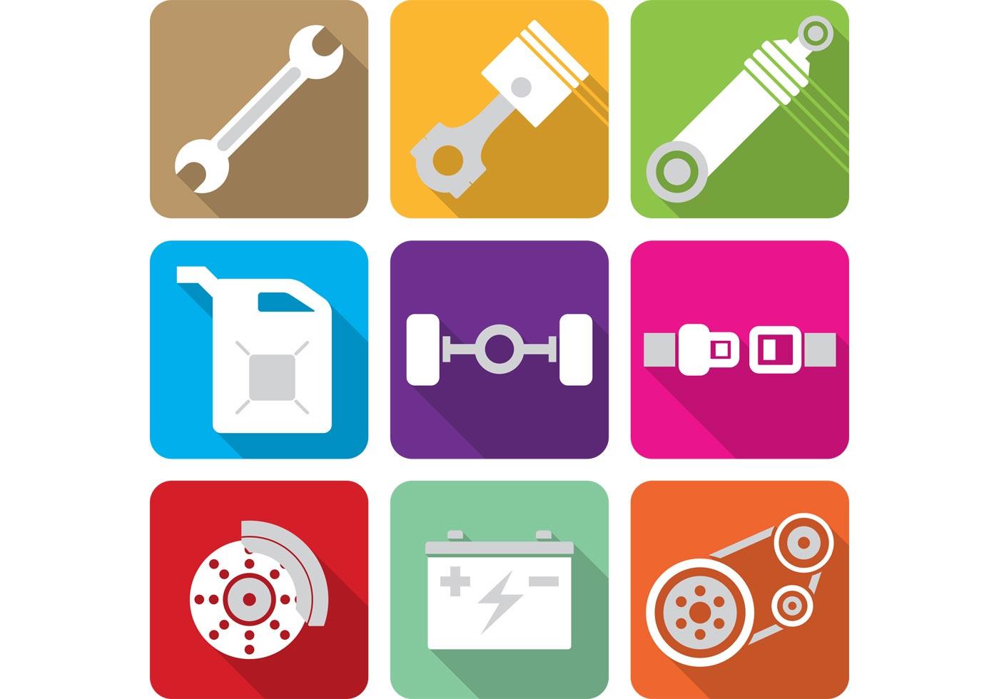 Flat Engine Piston Icons Download Free Vector Art Stock
