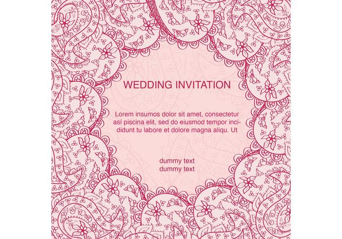 Decorated Indian Wedding Card