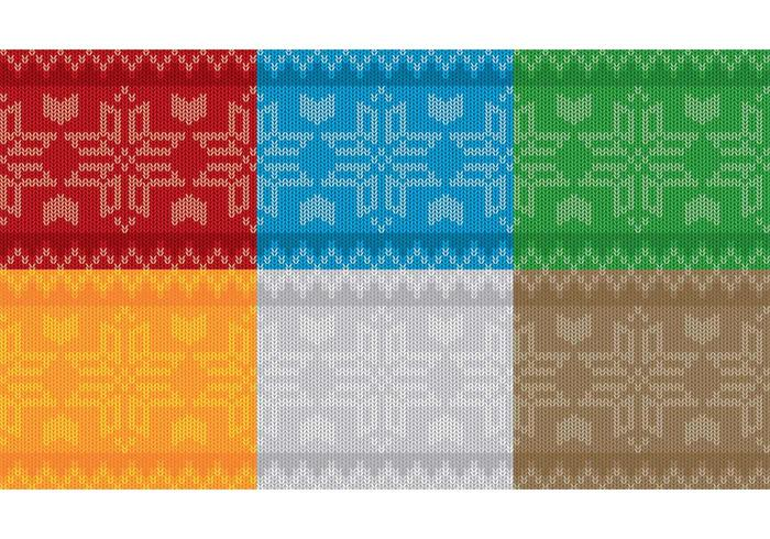 Christmas Snowflake Sweater Patterns  vector