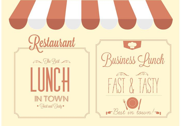 Free Vector Restaurant Sign Design