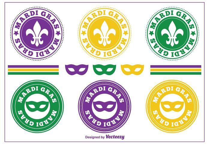 Mardi Gras Stamps / Badges