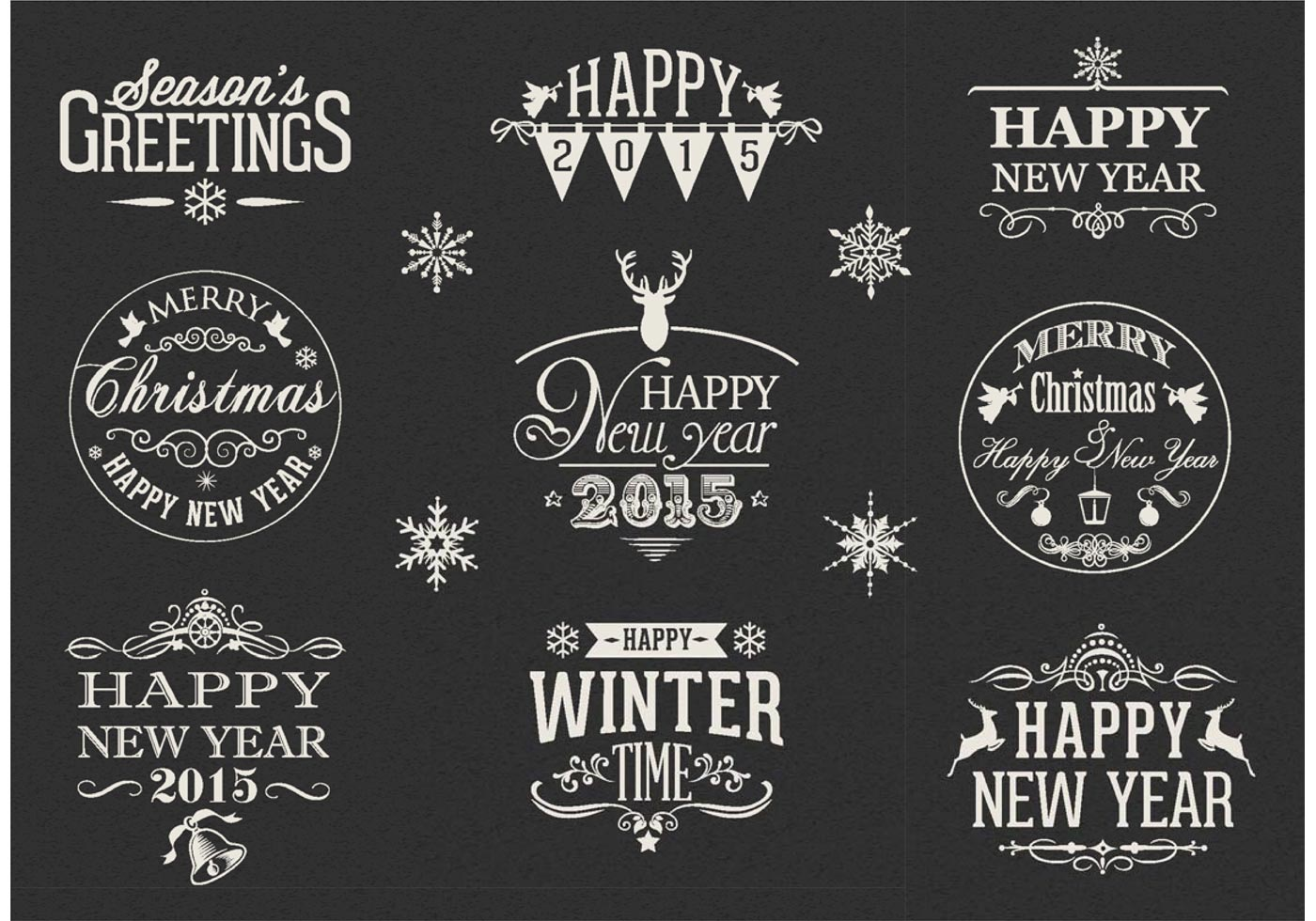 free retro happy new year vector labels download free vector art stock graphics images