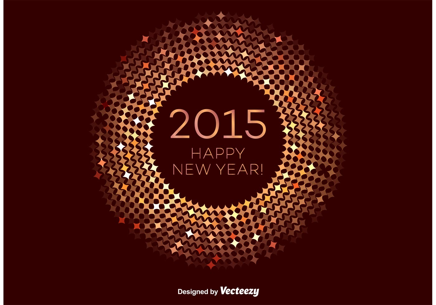 Bronze Happy New Year Vector Frame Download Free Vector Art Stock