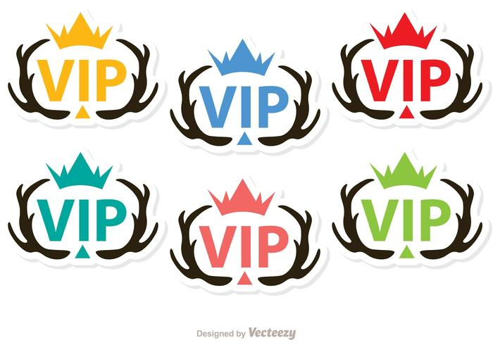 Antler vip iconen vector pack