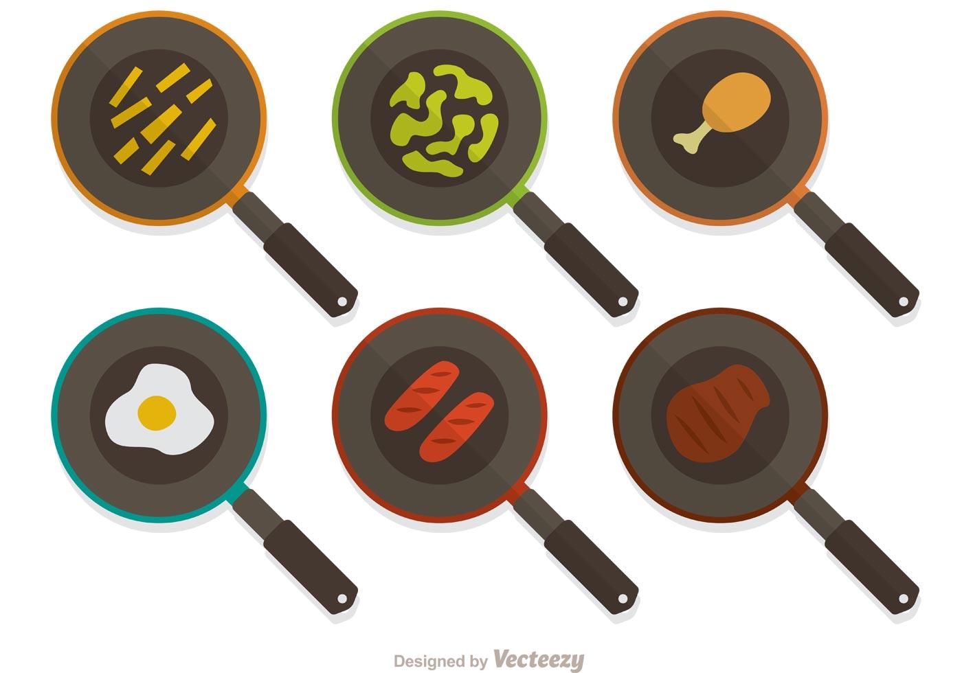 Frying Pan Vector Pack Download Free Vector Art Stock