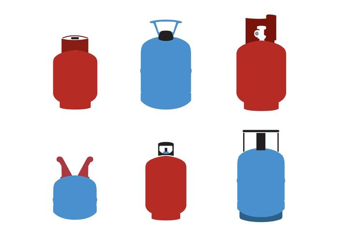 Gas Cylinder Vectors / Gas Tanks