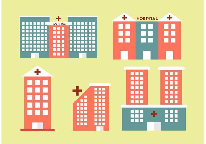 Sjukhusbyggnader vektor