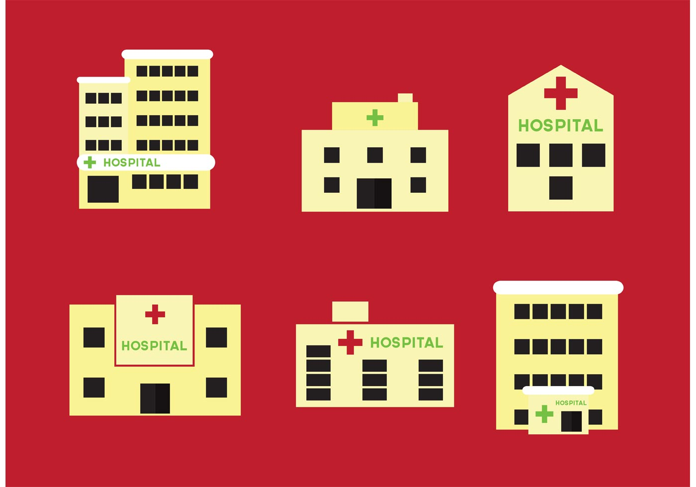 Hospital Buildings Download Free Vector Art Stock